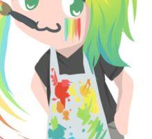 Rainbow Chibi Girl- Artist  Sticker