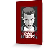 stranger things blood Greeting Card