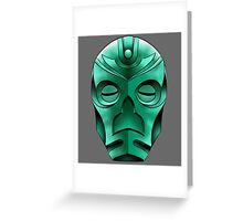 traditional dragon priest mask Greeting Card