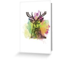 Ciervo multicolor Greeting Card