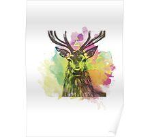 Ciervo multicolor Poster