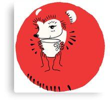 Tea Time for Hedgehog Canvas Print