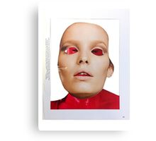 Face. Red - Pink - Black Collection. Collage ® Canvas Print