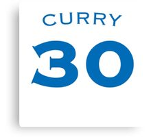 CURRY #30 Canvas Print