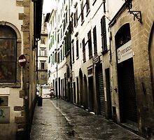 Lonely Florence street by visualimagery