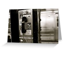 Last Payphone Standing  Greeting Card