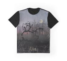 Willow Sunset Crescent Moon Graphic T-Shirt