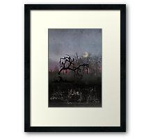 Willow Sunset Crescent Moon Framed Print