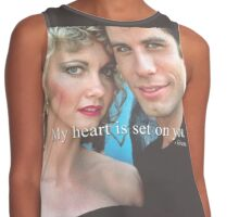 My heart is set on you. Contrast Tank
