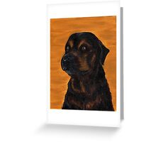 Rottie Bullmastiff Mix Greeting Card