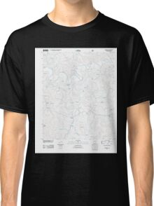 USGS TOPO Map Arkansas AR Snowball 20110801 TM Classic T-Shirt