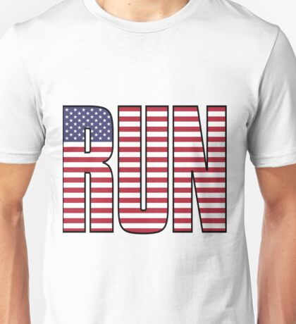 Run for your Country! Now with black outline! Unisex T-Shirt