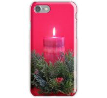Christmas Candle and Holly Wreath iPhone Case/Skin
