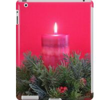 Christmas Candle and Holly Wreath iPad Case/Skin