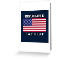 Deplorable Patriot for US Greeting Card