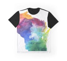Watercolor Map of Wisconsin, USA in Rainbow Colors - Giclee Print of My Own Watercolor Painting Graphic T-Shirt