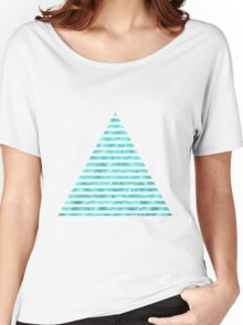 Geometric Cool Blue Women's Relaxed Fit T-Shirt