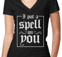 I Put A Spell On You Women's Fitted V-Neck T-Shirt