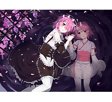 Ram & Ram child Re Zero Photographic Print
