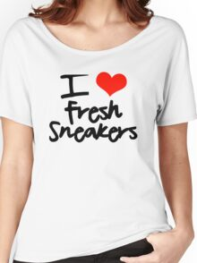 I Love Fresh Sneakers - Black Women's Relaxed Fit T-Shirt