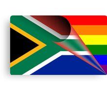 South Africa Flag Gay Pride Rainbow Flag Canvas Print