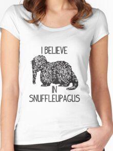 I Believe In Snuffleupagus Women's Fitted Scoop T-Shirt