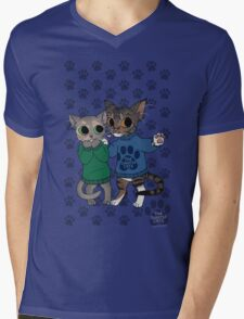 thesweatercats - Two Kitty Love Mens V-Neck T-Shirt