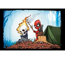 Ghostrider And Deadpool Go Camping Photographic Print