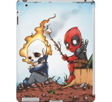 Ghostrider And Deadpool Go Camping iPad Case/Skin