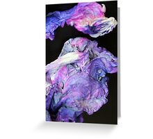 Purple Tissue Greeting Card