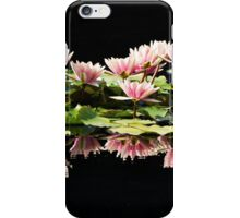 Group of pink water lilies iPhone Case/Skin