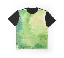Watercolor Map of Wyoming, USA in Green - Giclee Print My Own Watercolor Painting Graphic T-Shirt
