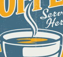 Vintage poster- Coffee Sticker