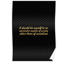 """I should tie myself... """"Nelson Mandela"""" Inspirational Quote Poster"""
