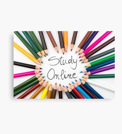 Study Online Canvas Print
