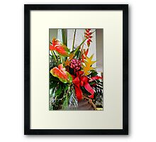 A Holiday Tropical Bouquet Framed Print