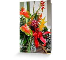 A Holiday Tropical Bouquet Greeting Card