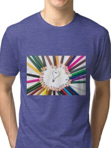 Lighting Bulb as Idea Concept Tri-blend T-Shirt