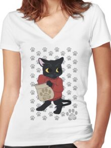 thesweatercats - Yummies Thief Women's Fitted V-Neck T-Shirt