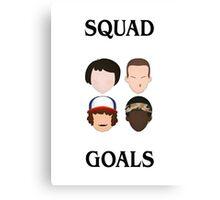 Stranger Things Squad Goals Canvas Print