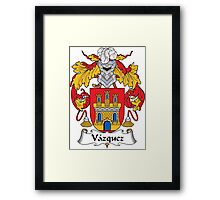 Vazquez Coat of Arms (Spanish) Framed Print