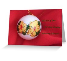 Hawaiian Christmas Bulb for the Holidays Greeting Card