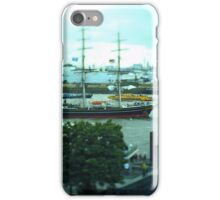 Hamburg Landungsbrücken -Tiltshift (1) iPhone Case/Skin