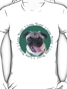 Cute I Love Pugs! T-Shirt or Hoodie T-Shirt