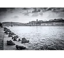 Holocaust Memorial - Shoes Over Danube, Budapest Photographic Print