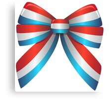 Red White and Blue Ribbon Canvas Print