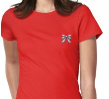 Red White and Blue Ribbon Womens Fitted T-Shirt