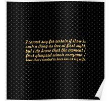"""I cannot say for... """"Nelson Mandela"""" Inspirational Quote (Square) Poster"""