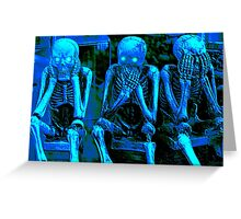 Halloween Blues Greeting Card