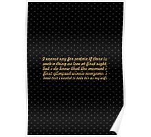 """I cannot say for... """"Nelson Mandela"""" Inspirational Quote Poster"""